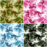Camouflage set Stock Photos