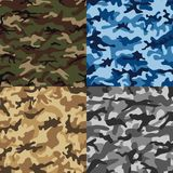 Camouflage set seamless pattern in multiple colors. vector illustration
