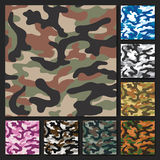 Camouflage set texture  Royalty Free Stock Image