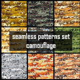 Camouflage. Set vector seamless camouflage pattern Stock Image