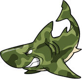 Camouflage Shark. Green Camouflage Shark Vector Illustration Royalty Free Stock Images