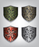 Camouflage shield illustration Stock Photography