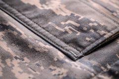 Camouflage shirt pocket Stock Photography