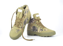 Camouflage shoes Stock Image