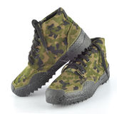 Camouflage shoes Royalty Free Stock Image