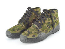 Camouflage shoes Royalty Free Stock Photo