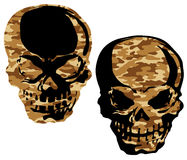 Camouflage skull,. I designed the skull and a camouflage handle Royalty Free Stock Photos