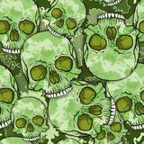 Camouflage Skull Pattern. Camouflage Skull Background. Vector Seamless Pattern stock illustration