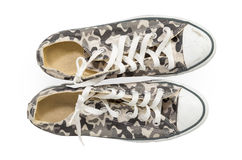 Camouflage sneakers Stock Photo