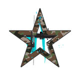 Camouflage star Stock Photos