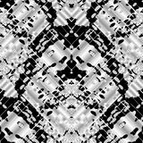 Camouflage style seamless pattern. Vector black and white abstra. Ct striped background with stains, dots, stripes, linesm zigzag. Psychedelic ornaments. Surface royalty free illustration