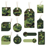 Camouflage tags Stock Image