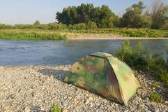 Camouflage tent Stock Photos