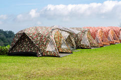 Camouflage tent Royalty Free Stock Images