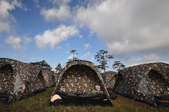 Camouflage tent Stock Image