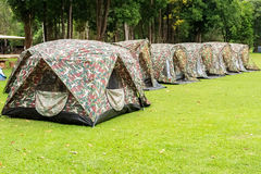 Camouflage Tents Royalty Free Stock Image