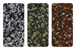 Camouflage texture. Different types of camouflage texture vector illustration