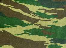 Camouflage texture. Close-up of a piece of camouflage cloth Royalty Free Stock Photos