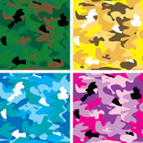 Camouflage tile. Abstract arm camouflage in different colours all four will tile seamlessly Stock Photos