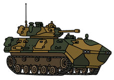 Camouflage track armoured vehicle. Hand drawing of a camouflage track armoured vehicle - not a real model Royalty Free Stock Images