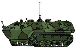 Camouflage track troop carrier Royalty Free Stock Images
