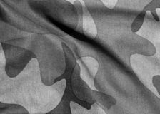Camouflage uniform abstract pattern in black and white. Royalty Free Stock Photo