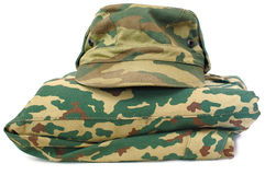 Camouflage uniform complete set. Stock Images