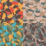 Camouflage urbain coloré de l'Amérique Ensemble de modèle sans couture de camo de forme des Etats-Unis Textile de tissu de vecteu Photographie stock libre de droits