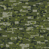 Camouflage urban disruptive block khaki seamless pattern Stock Image