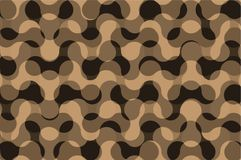 Camouflage vector pattern. Brown waves, Camo background Stock Image