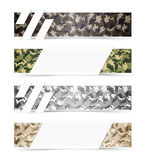 Camouflage Web Banners Stock Image