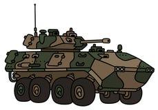 Camouflage wheeler armoured vehicle Stock Image