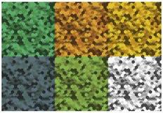 Camouflageachtergronden Royalty-vrije Stock Afbeeldingen