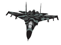 Camouflaged aircraft. Vector Stock Images