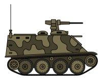 Camouflaged amored vehicle Stock Images