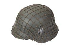 Camouflaged armia niemiecka hełma drugiej wojny światowa okres Zdjęcie Stock