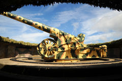 Camouflaged artillery bunker Guernsey Stock Image