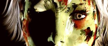 Camouflaged dziewczyna Fotografia Stock