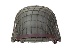 Camouflaged german army helmet World War II period isolated Royalty Free Stock Photo