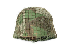 Camouflaged helmet Royalty Free Stock Photo