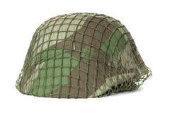 Camouflaged helmet Stock Photo