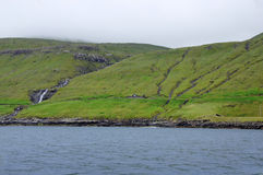 Camouflaged house on Faroe Islands Royalty Free Stock Images