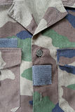 camouflaged military jacket Royalty Free Stock Photography