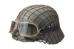 Camouflaged Nazi German Helmet Stock Photography