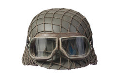 Camouflaged nazi german helmet Stock Image