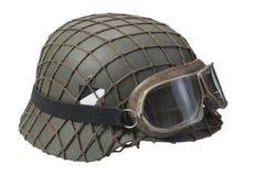 Camouflaged nazi german helmet Stock Photos