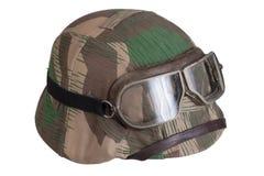 Camouflaged nazi german helmet Stock Image