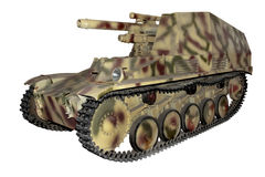 Camouflaged old self-propelled gun Stock Images