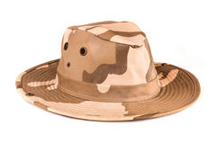 Camouflaged Safari hat Royalty Free Stock Photos