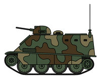 Camouflaged small armored vehicle Stock Image